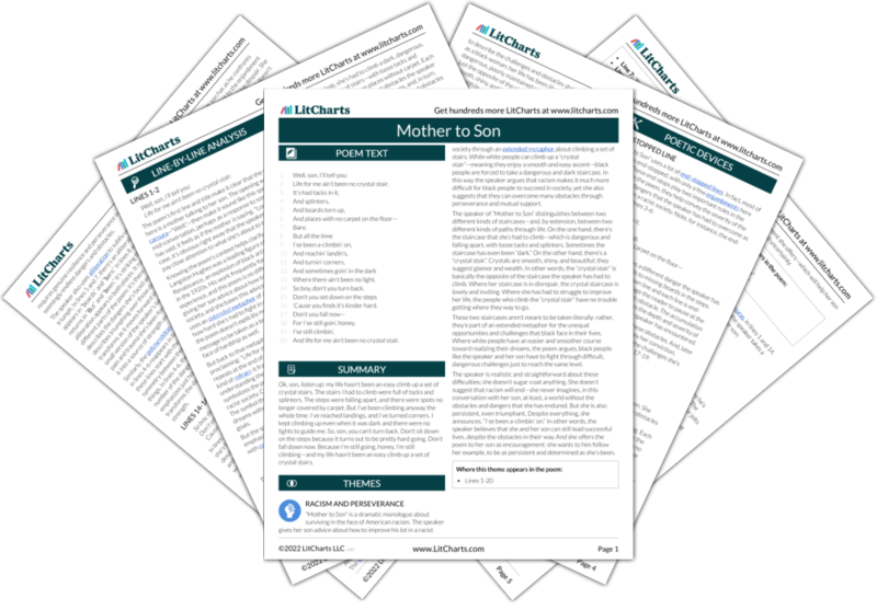 Mother To Son Poem Summary And Analysis Litcharts