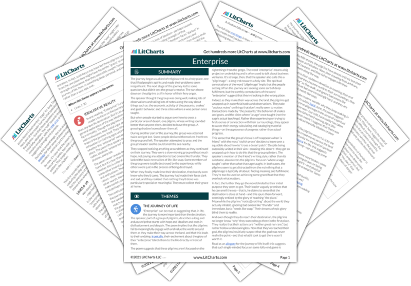 The LitCharts guide to Enterprise