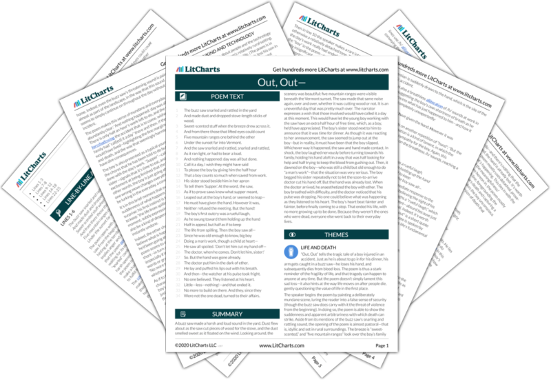 Out Out Poem Summary And Analysis Litcharts