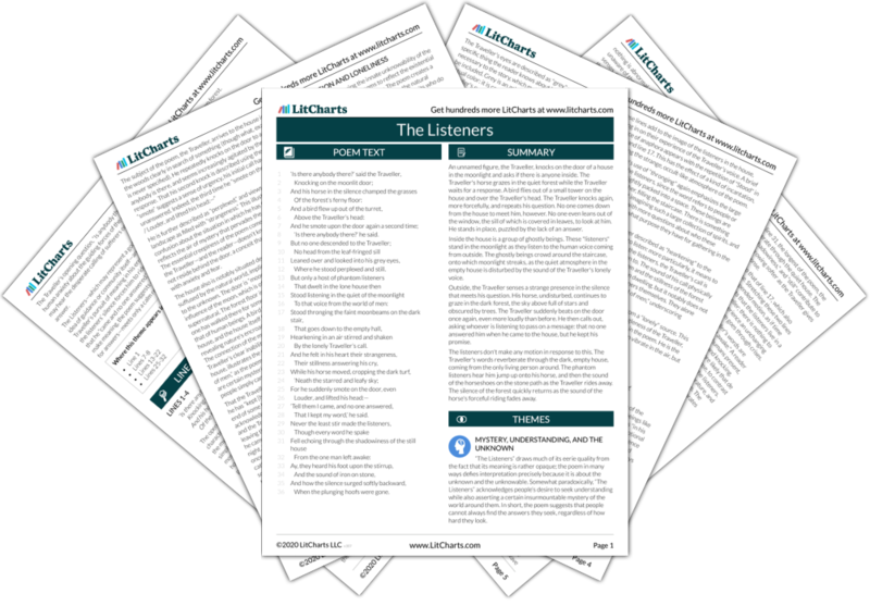 The Listeners Poem Summary And Analysis Litcharts